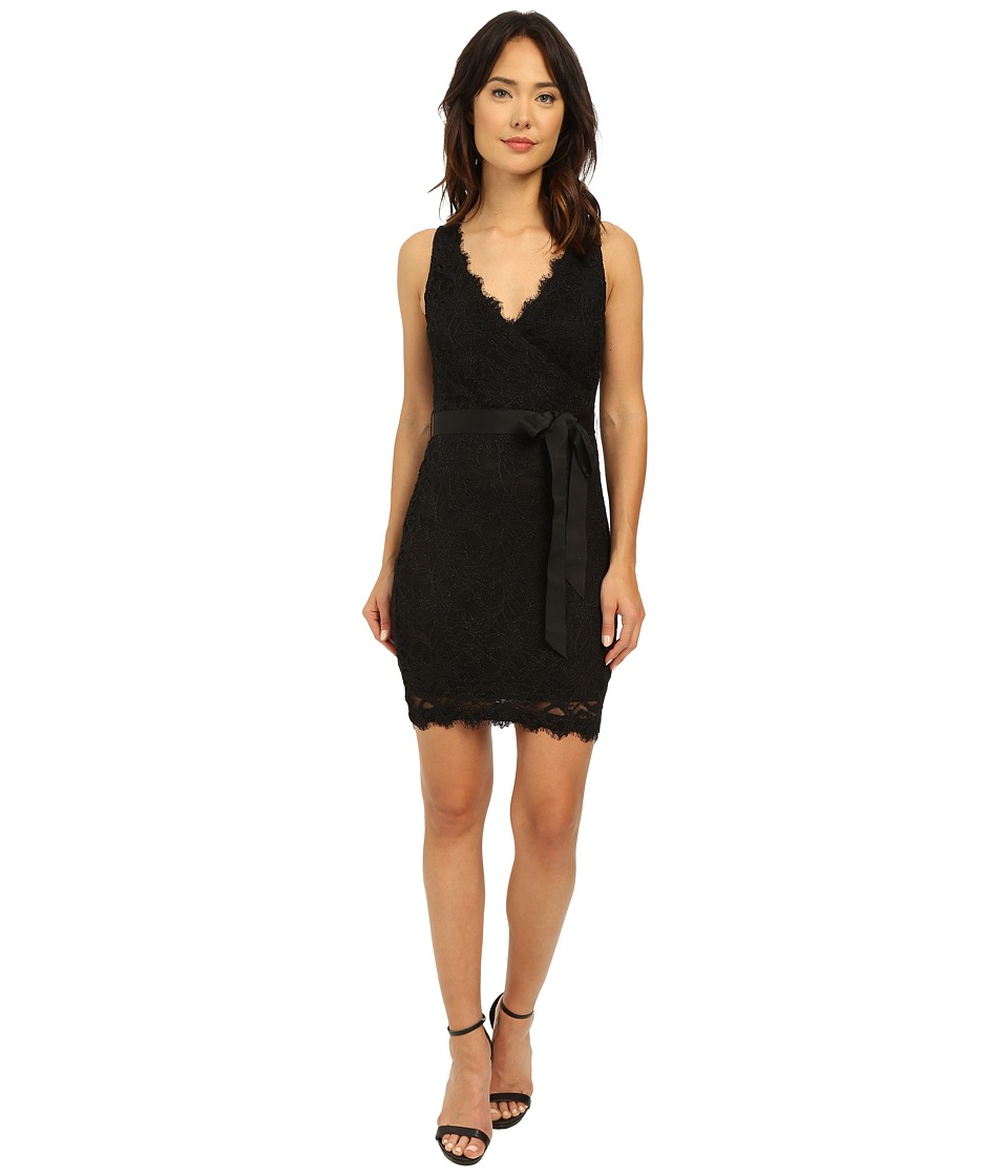 rsvp Hayley Stretch Mock Wrap Dress Black Womens Dress