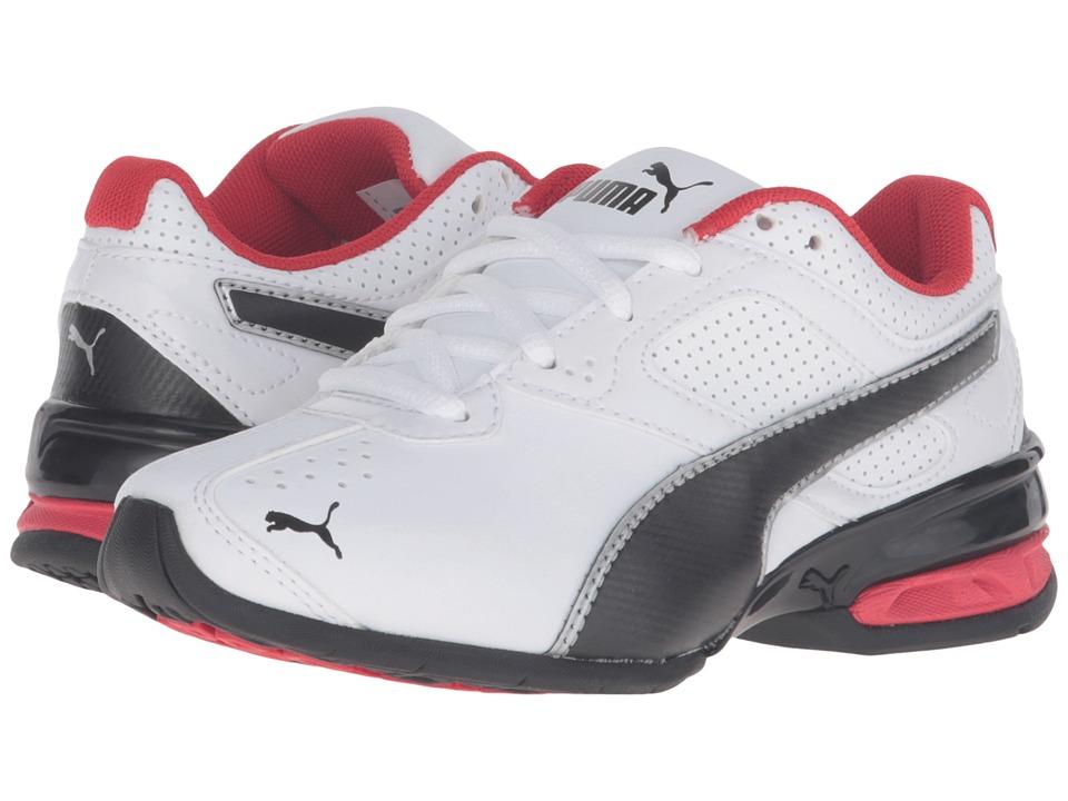 Puma Kids Tazon 6 SL PS (Little Kid/Big Kid) (Puma White/Puma Black/Puma Silver) Boys Shoes