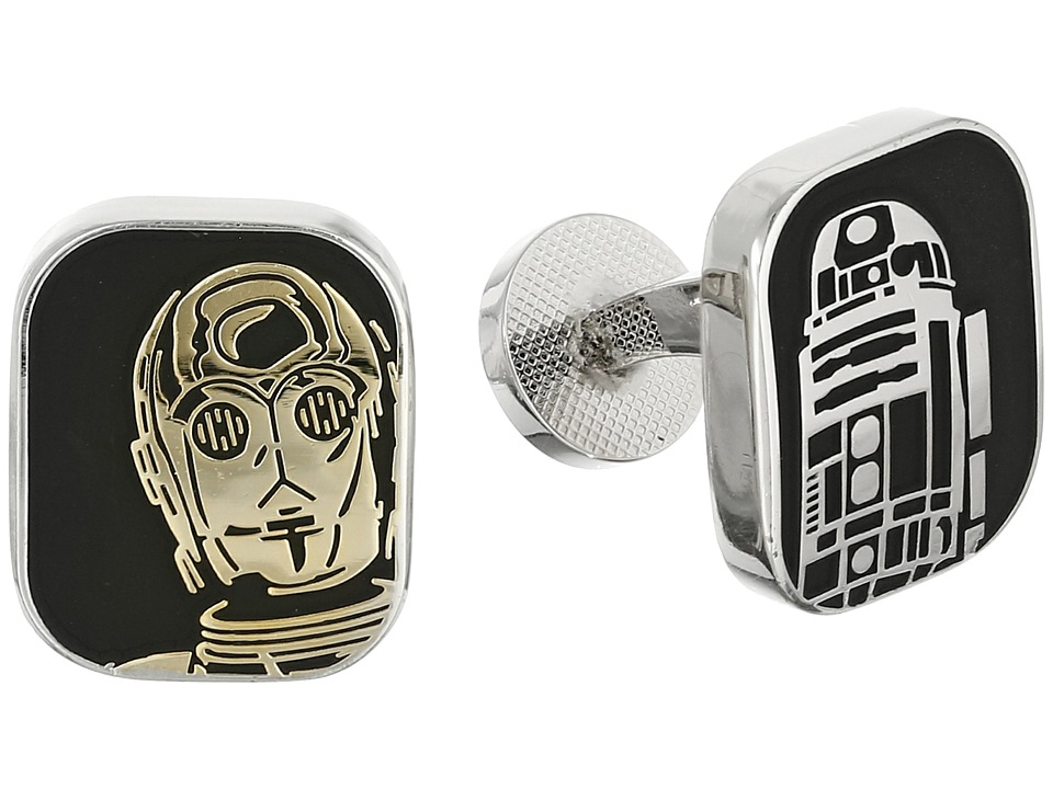 Cufflinks Inc. R2D2 and C3PO Cufflinks Black Cuff Links