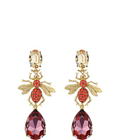Oscar de la Renta - Crystal Bee Long Drop C Earrings