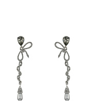 Oscar de la Renta - Pave Bow Spiral C Earrings
