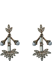 Oscar de la Renta - Crystal Baguette Leaf P Earrings
