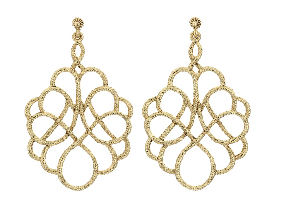 Oscar de la Renta Looped Rope P Earrings Light Gold Earring