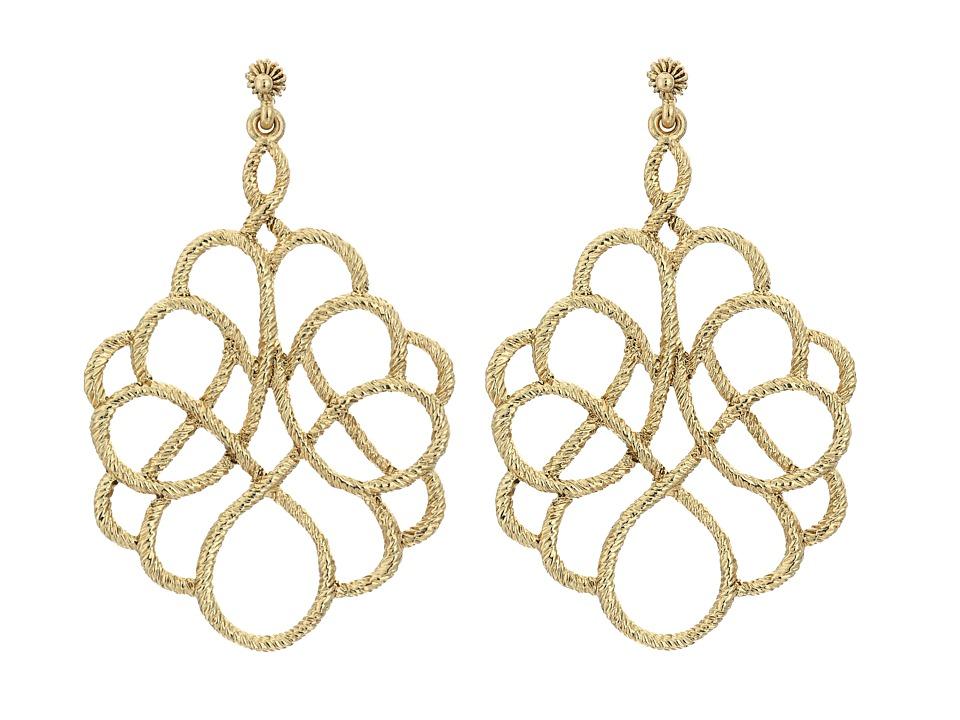 Oscar de la Renta Looped Rope P Earrings Light Gold Earring