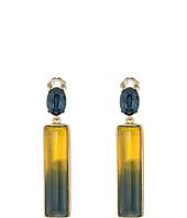 Oscar de la Renta - Two-Tone Resin C Earrings