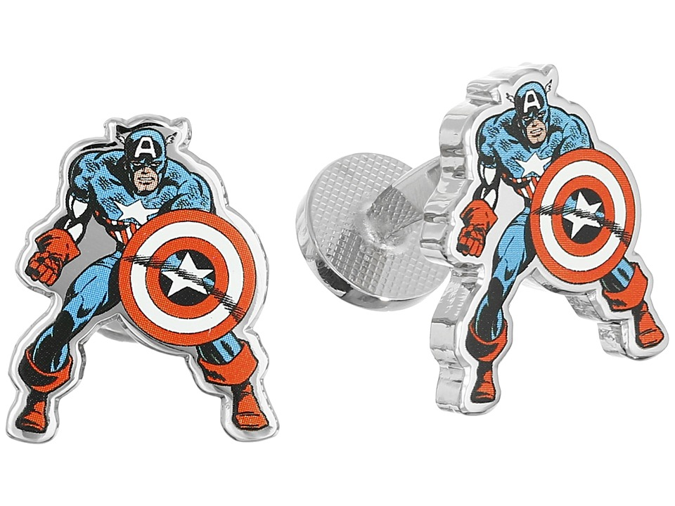 Cufflinks Inc. - Captain America Action Cufflinks (Multi) Cuff Links