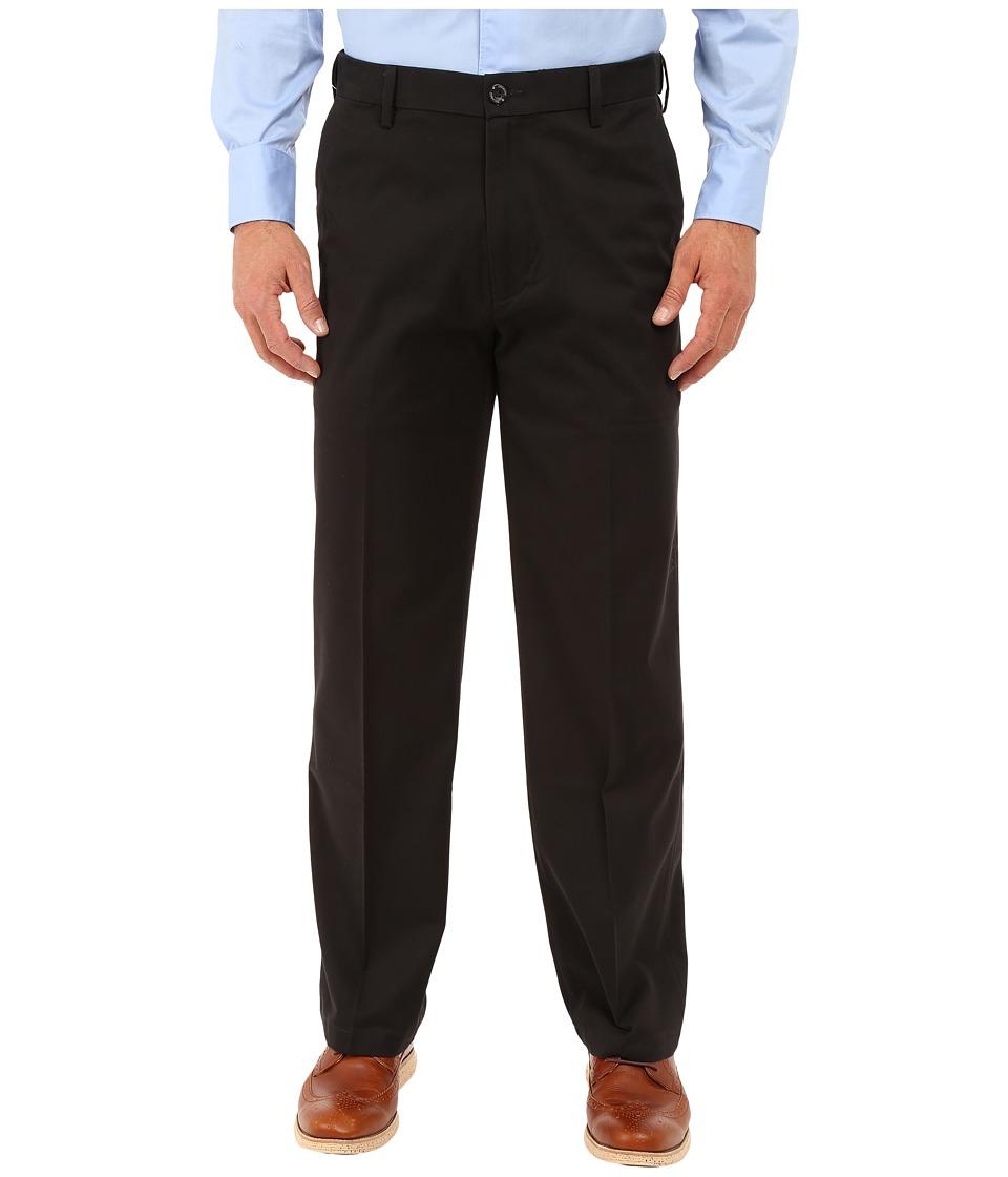 Dockers - Comfort Khaki Classic Flat Front (Black Metal) Mens Casual Pants