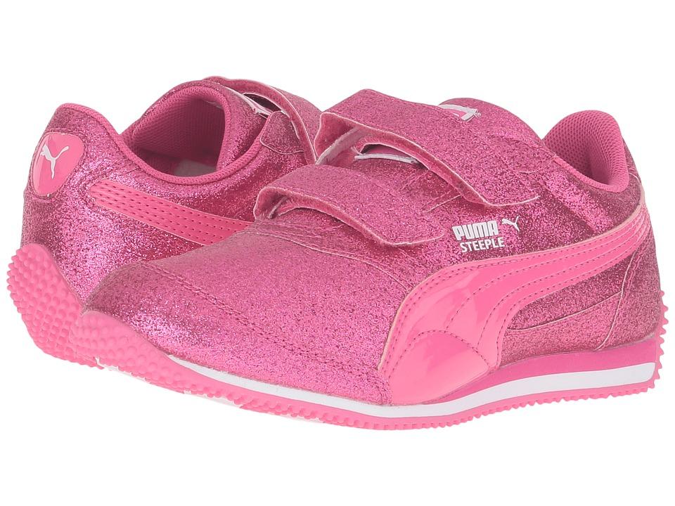 Puma Kids - Steeple Glitz Glam V PS (Little Kid/Big Kid) (Fandango Pink) Girls Shoes