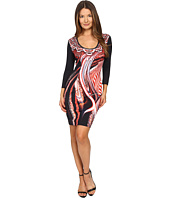 Just Cavalli - Leo Hurricane 3/4 Sleeve Bodycon Jersey Dress