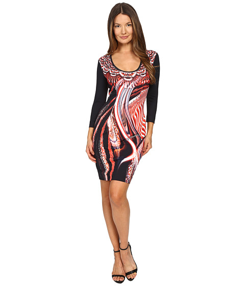 Just Cavalli Leo Hurricane 3/4 Sleeve Bodycon Jersey Dress