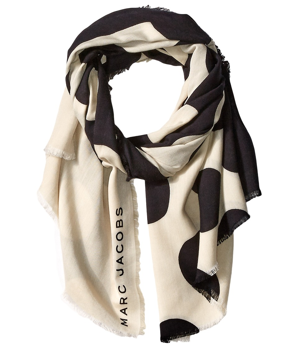 Marc Jacobs Big Spot Scarf Black Multi Scarves