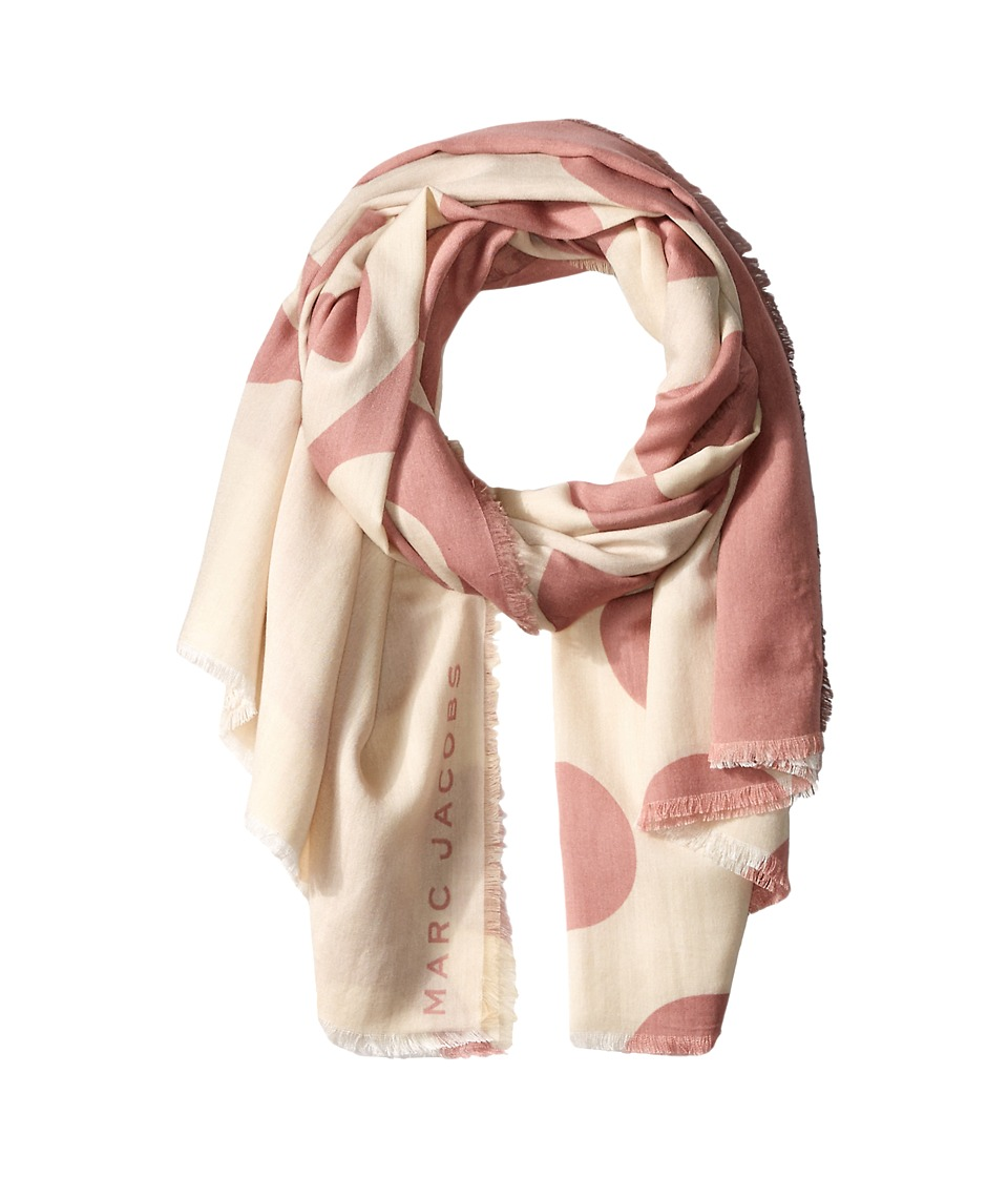 Marc Jacobs Big Spot Scarf Sequin Pink Multi Scarves