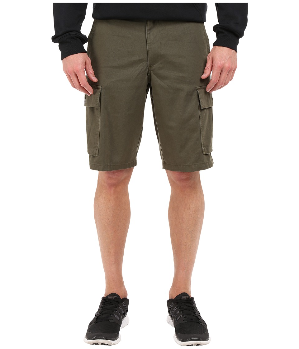 Dockers Mens Dockers Cargo Solid Twill Shorts Dockers Olive Mens Shorts