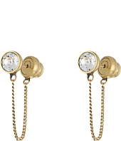 Marc Jacobs - Sparkle Chain Crystal Cabochon Studs Earrings