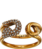 Marc Jacobs - Charms Pave Safety Pin Ring