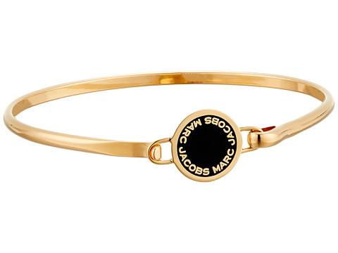 Marc Jacobs Logo Disc Enamel Logo Disc Hinge Bracelet - Black/Oro