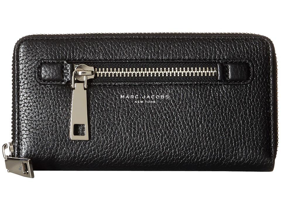 Marc Jacobs - Gotham Continental Wallet (Black) Wallet Handbags