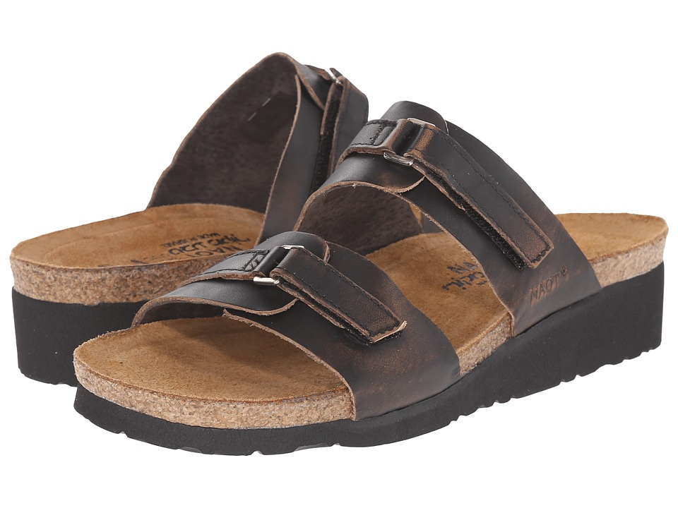 Naot Footwear Carly Volcanic Brown Leather Womens Sandals