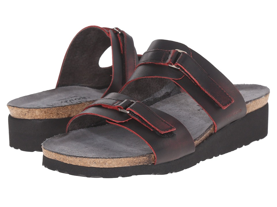 Naot Footwear Carly Volcanic Red Leather Womens Sandals