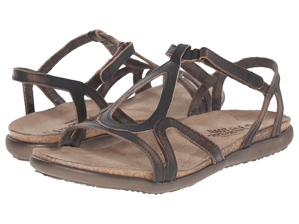 Naot Dorith (Volcanic Brown Leather) Sandals