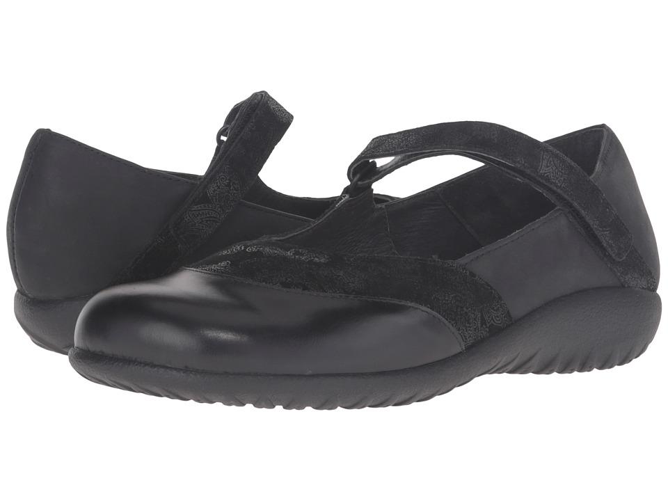Naot Footwear - Luga (Black Lace Nubuck/Oily Coal Nubuck/Black Madras Leather) Women
