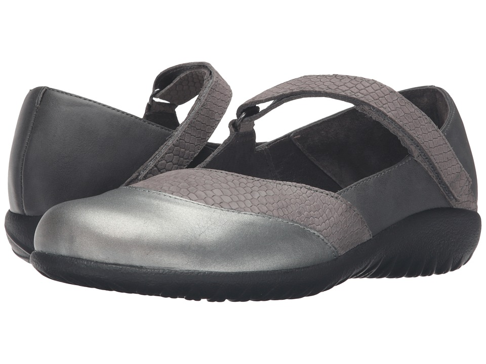 Naot Luga (Gray Iguana Nubuck/Tin Gray Leather/Sterling L...