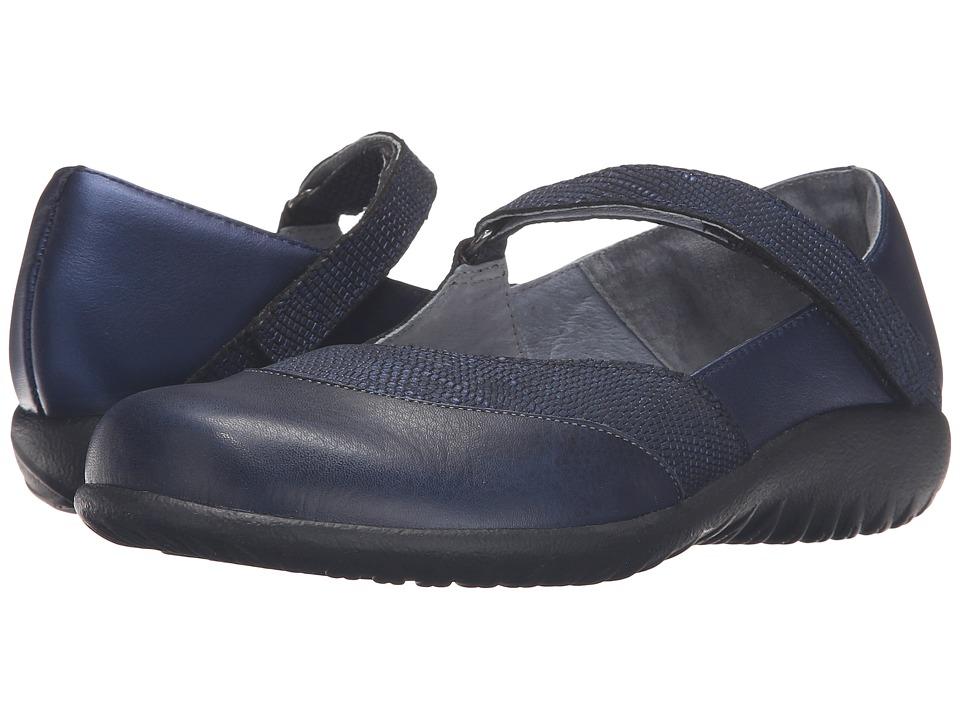 Naot - Luga (Navy Reptile Leather/Polar Sea Leather/) Womens Shoes