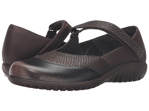 Naot Footwear Luga - Brown Croc Leather/Brown Shimmer Nubuck/Volcanic Brown Leather