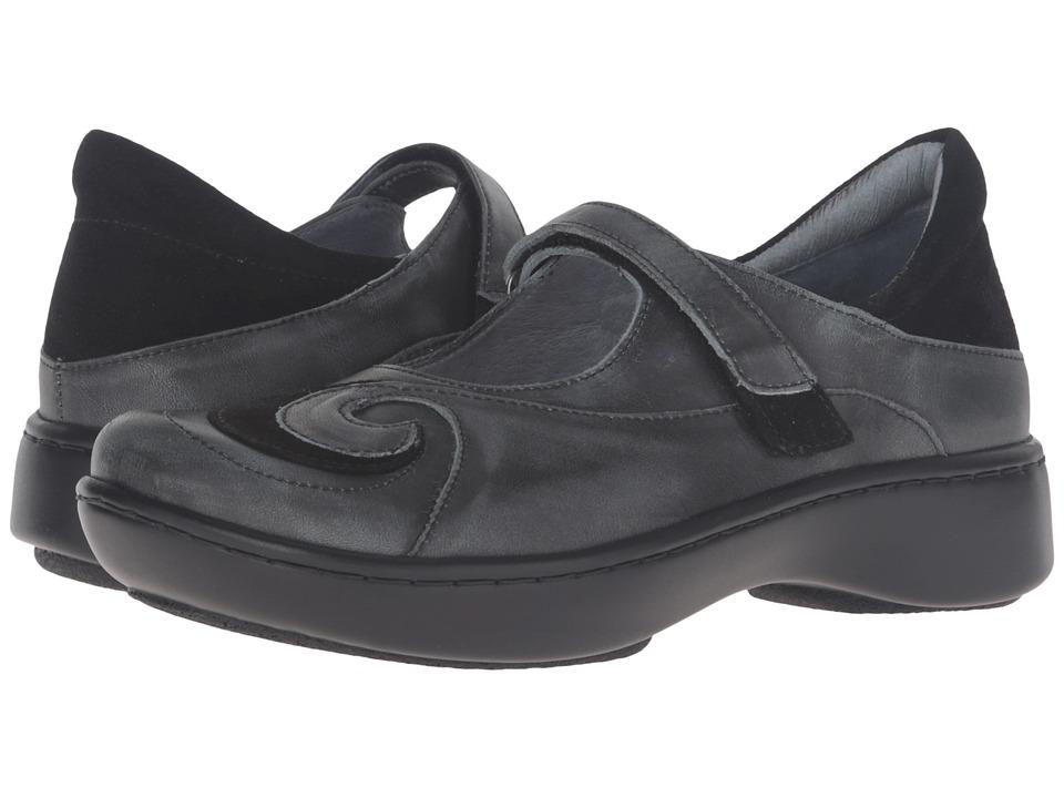 Naot Footwear Sea (Vintage Smoke Leather/Black Suede/Vintage Smoke Leather) Women's Shoes