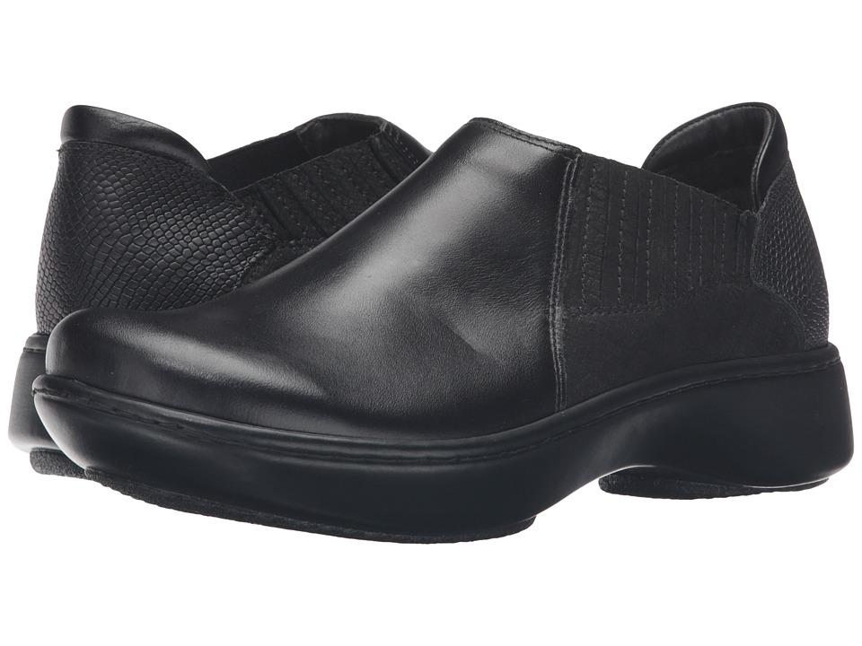 Naot Footwear - Bay (Black Madras Leather/Black Crackle Leather/Black Snake Leather) Women