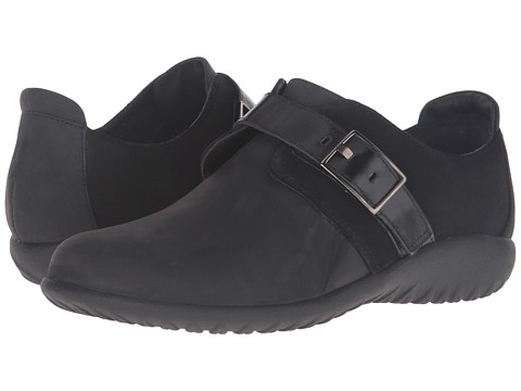 Naot Footwear Tane - Oily Coal Nubuck/Black Suede/Black Madras Leather/Shiny Black Le