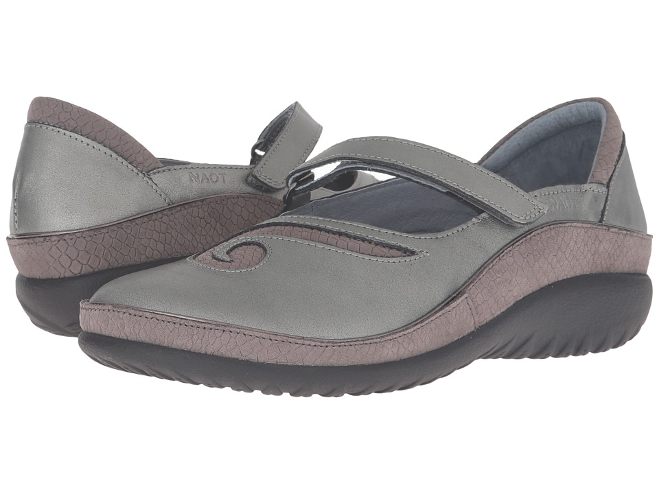 Naot Footwear Matai (Sterling Leather/Gray Iguana Nubuck) Maryjane Shoes