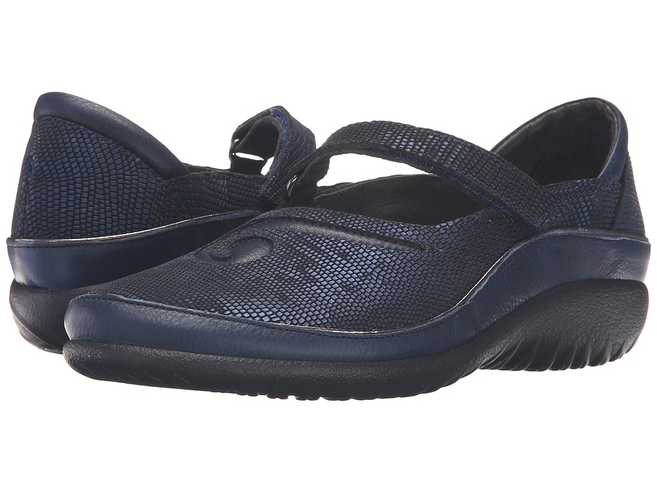 Naot Matai (Ink Leather/Navy Reptile Leather) Maryjanes
