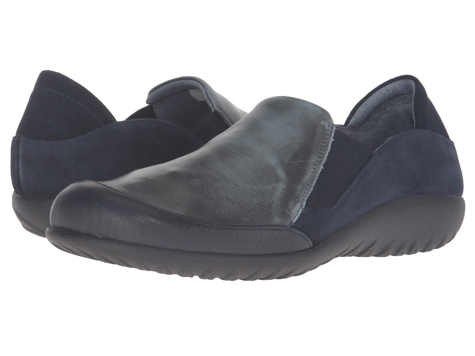 Naot Footwear Moana (Ink Leather/Vintage Smoke Leather/Blue Velvet Suede) Women