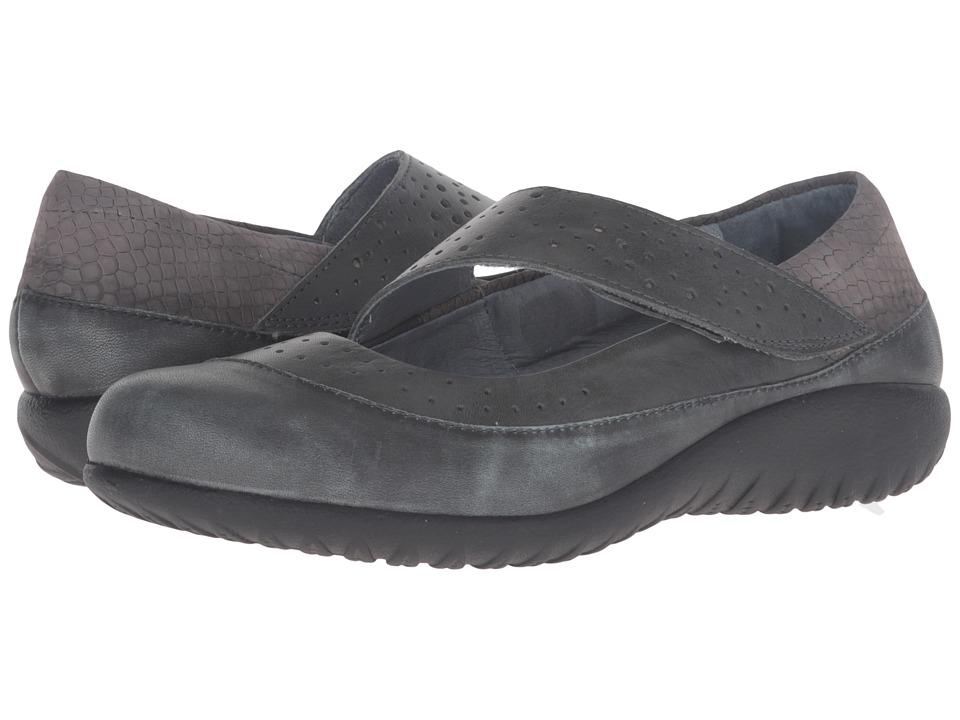Naot Aroha (Vintage Smoke Leather/Tin Gray Leather/Gray Iguana Nubuck/Glass) Women
