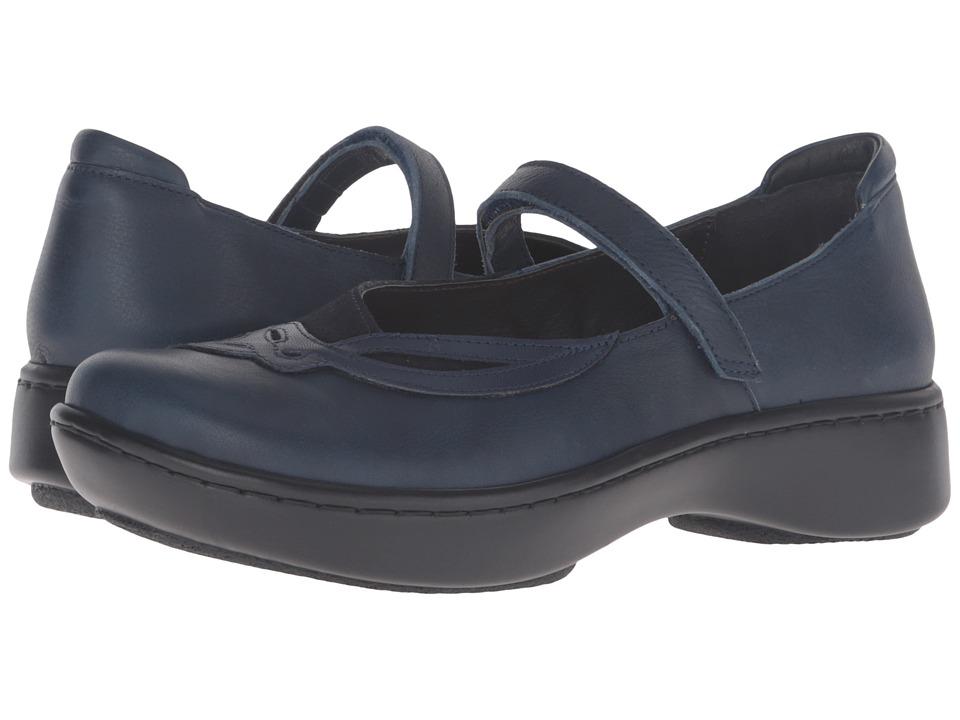 Naot Footwear - Bluegill (Ink Leather/Blue Velvet Suede/Polar Sea Leather) Women