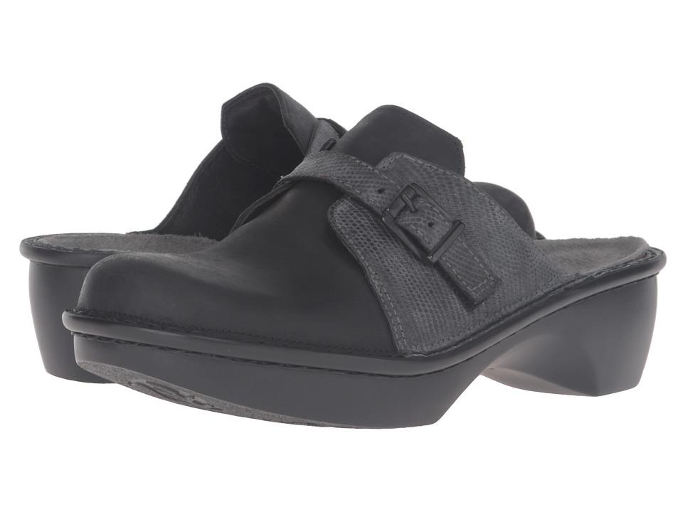 Naot Footwear - Avignon (Oily Coal Nubuck/Reptile Gray Leather) Women