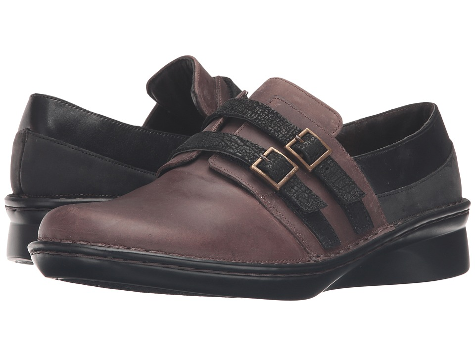 Naot Celesta (Brown Haze Leather/Black Raven Leather/Oily Coal Nubuck/Black Cr) Women