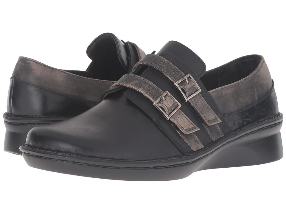 Naot Celesta (Black Madras Leather/Oily Coal Nubuck/Vintage Gray Leather) Women