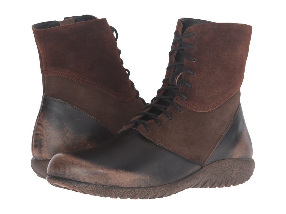 Naot Footwear Atopa (Volcanic Brown Leather/Hash Suede/Seal Brown Suede) Women