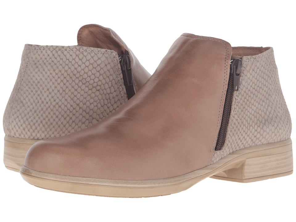 Naot Footwear Helm (Arizona Tan Leather/Beige Iguana Nubuck) Women