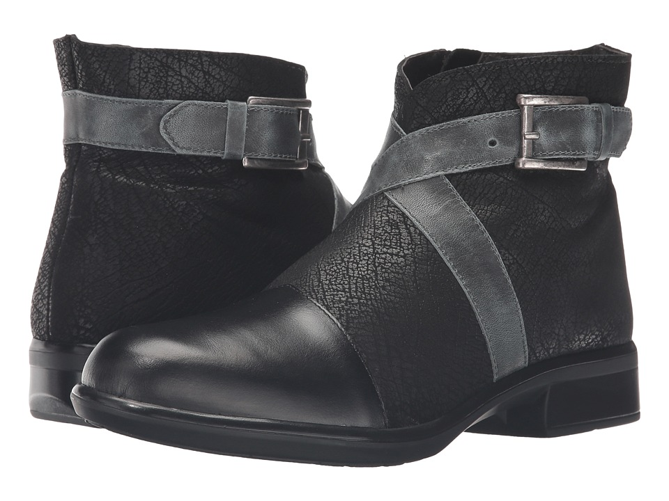 Naot Footwear Boreas (Black Madras Leather/Black Crackle Leather/Vintage Smoke Leather) Women