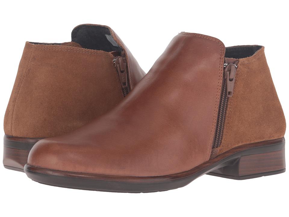 Naot Footwear Helm (Maple Brown Leather/Desert Suede) Women