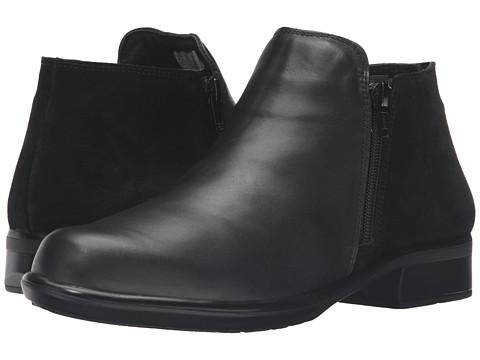 Naot Footwear Helm - Black Raven Leather/Black Suede