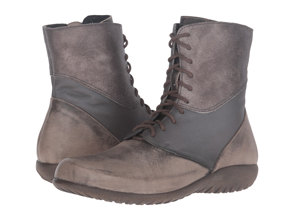 Naot Footwear Atopa (Vintage Grey Leather/Shadow Gray Leather/Gray Shimmer Leather) Women