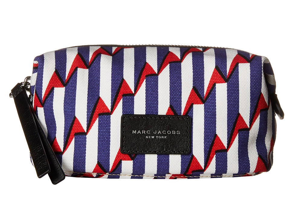 Marc Jacobs Arrow Head Printed Biker Cosmetics Landscape Pouch Paris Blue Kiss Multi Handbags