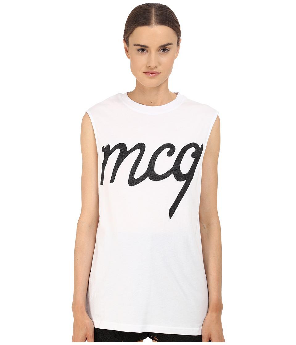 McQ Boyfriend Tank Top Optic White 1 Womens Sleeveless