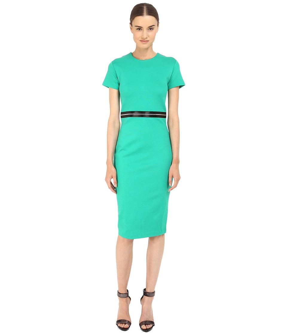 McQ Bodycon Zip Dress Emerald Womens Dress