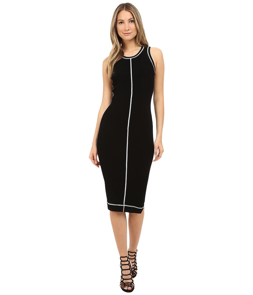 McQ Cover Stitch Dress Darkest Black Womens Dress