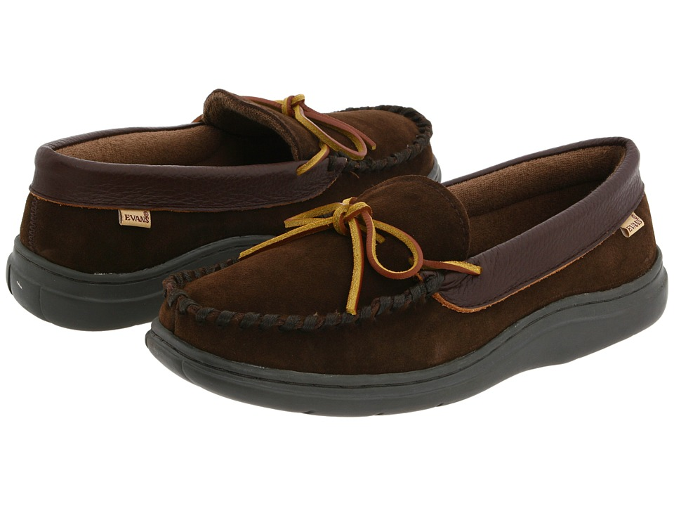 L.B. Evans Atlin Chocolate Suede W/Terry Lining Mens Slippers